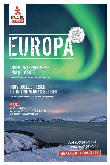 Online Reise-Katalog Europa