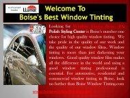 Automotive Window Tinting Idaho|Boise Window Tinting