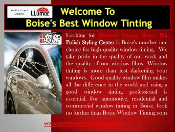 Automotive Window Tinting Idaho Boise Window Tinting