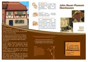 John-Bauer-Museum Ebenhausenn - Oberes Werntal