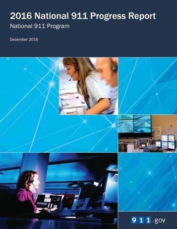 2016 National 911 Progress Report
