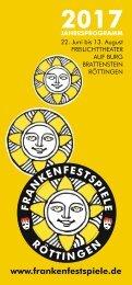 Prospekt Frankenfestspiele Röttingen 2017