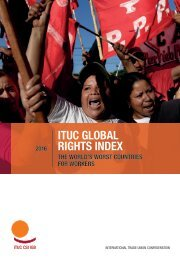 ITUC GLOBAL RIGHTS INDEX