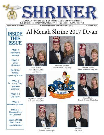 All Menah SHRINER JANUARY 2017