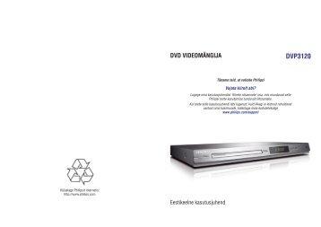 Philips Lecteur de DVD - Mode d'emploi - EST