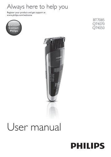 Philips Beardtrimmer series 7000 Tondeuse à barbe à système d'aspiration - Mode d'emploi - MSA