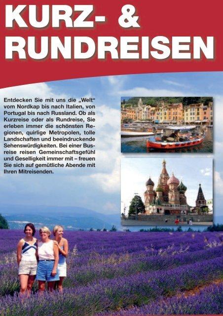 Kurz- & Rundreisen - Anton Graf GmbH Reisen & Spedition