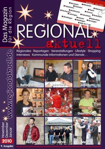 Regionales | Reportagen | Veranstaltungen | Lifestyle