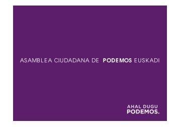 ASAMBLEA CIUDADANA DE PODEMOS EUSKADI