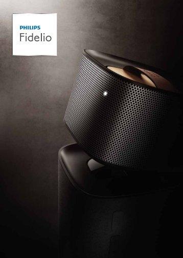 Philips Fidelio Lecteur de disques Blu-ray - Brochure - DEU