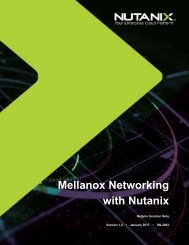 Mellanox Networking with Nutanix
