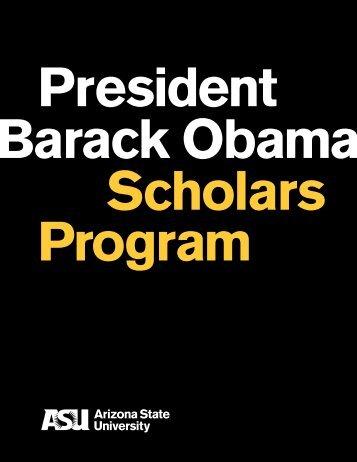 President Barack Obama Scholars Program Brochure