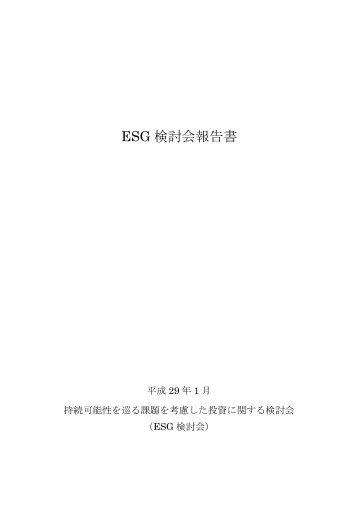 ESG 検 討 会 報 告 書