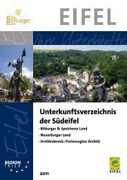Unterkunftsverzeichnis der Südeifel - Tourist Information Bitburger ...