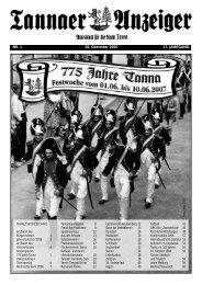 NR. 1 20. Dezember 2006 17. JAHRGANG - Stadtverwaltung Tanna