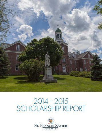 2014 - 2015 SCHOLARSHIP REPORT
