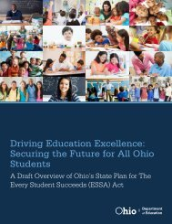Driving Education Excellence Securing the Future for All Ohio Students