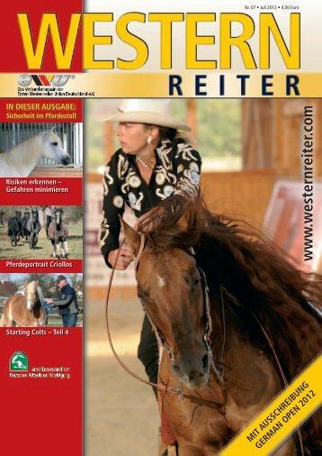 mit ausschreibung german open 2012 - Erste Westernreiter Union ...