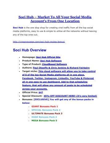 Soci Hub review & massive +100 bonus items