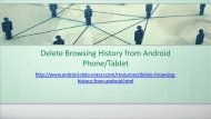 The way to Delete Browsing History from Android