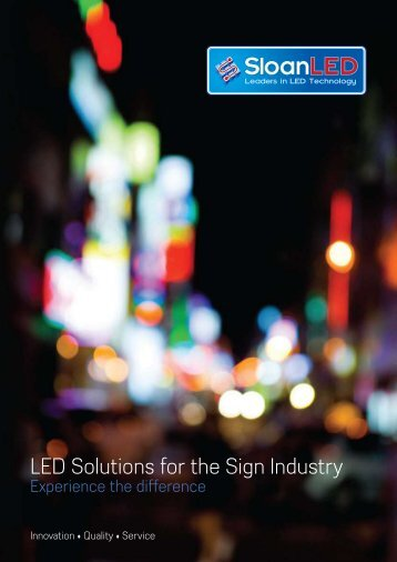 LED Solutions for the Sign Industry - Ocuris.