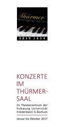 Konzerte im Thürmer-Saal 2017