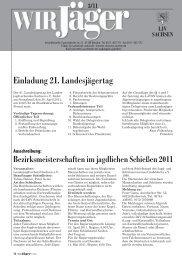 einladung 21. Landesjägertag - Landesjagdverband Sachsen e. V.