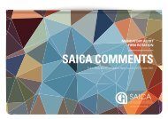SAICA COMMENTS