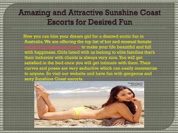 great female escorts sunshine coast