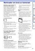 Sony DSC-W380 - DSC-W380 Istruzioni per l'uso Norvegese - Page 3