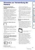 Sony DSC-W380 - DSC-W380 Guida all'uso Tedesco - Page 3