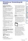 Sony DSC-W380 - DSC-W380 Istruzioni per l'uso Tedesco - Page 3