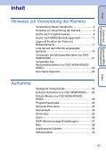 Sony DSC-W380 - DSC-W380 Istruzioni per l'uso Tedesco - Page 5