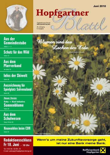 Ausgabe Juni 2010 (9,69 MB) - Gemeinde Hopfgarten - Land Tirol