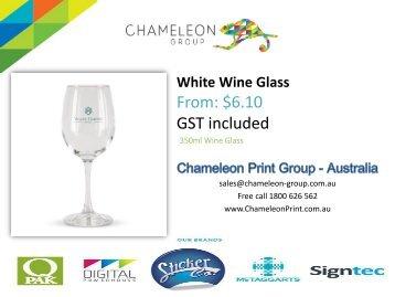 White Wine Glass - Chameleon Print Group