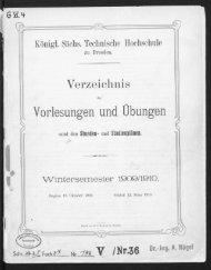 Verzeichnis der Vorlesungen und Übungen samt den Stunden- und Studienplänen Wintersemester 1909/10