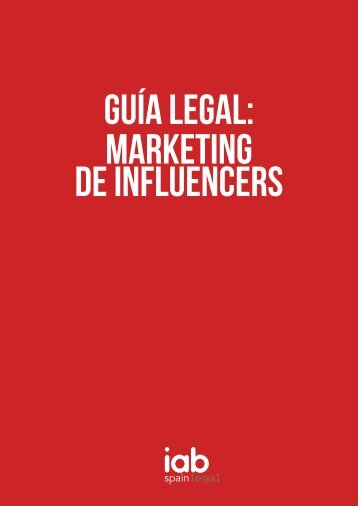 GUÍA LEGAL MARKETING DE INFLUENCERS
