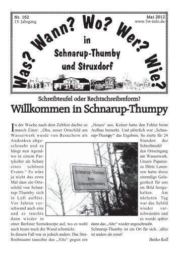 Mai 2012 - Wann? Wo? Wer? Wie? in Schnarup-Thumby