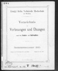 Verzeichnis der Vorlesungen und Übungen samt den Stunden- und Studienplänen Sommersemester 1910