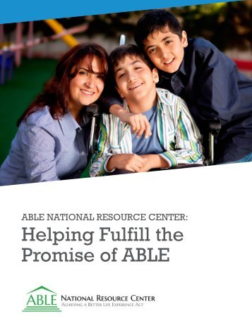 Helping Fulfill the Promise of ABLE