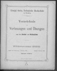 Verzeichnis der Vorlesungen und Übungen samt den Stunden- und Studienplänen Wintersemester 1918/19