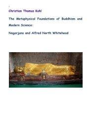Nagarjuna and Alfred North Whitehead