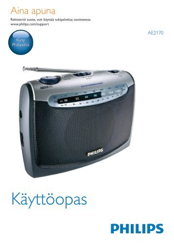Philips Radio portable - Mode d'emploi - FIN