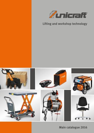 EN Unicraft Workshop and lifting equipment 2016