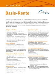 Basis-Rente - Oeco Capital