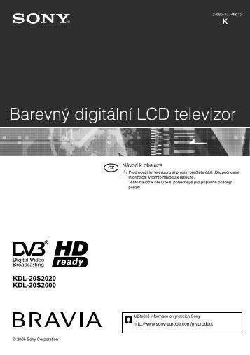 Sony KDL-20S2020 - KDL-20S2020 Istruzioni per l'uso Ceco