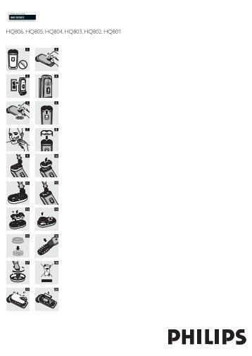 Philips 800 series Rasoir électrique - Mode d'emploi - KOR