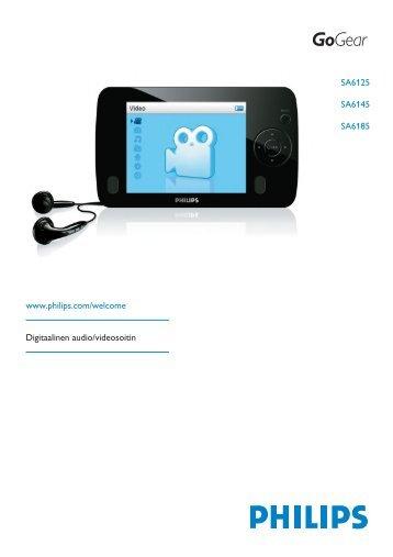 Philips GoGEAR Baladeur audio/vidéo à mémoire flash - Mode d'emploi - FIN