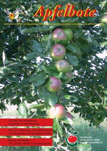 Apfelbote 2/ 2008 - Gutes aus Hessen