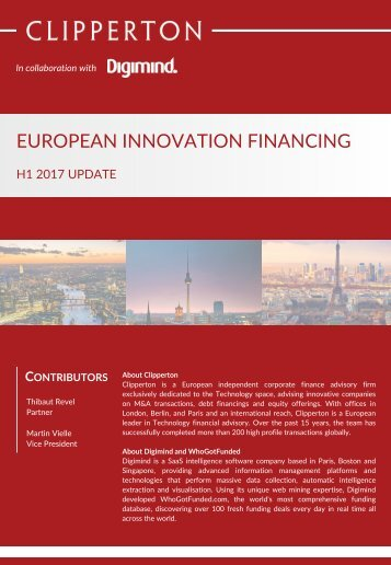 EUROPEAN INNOVATION FINANCING